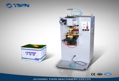 Single spot can welding machine